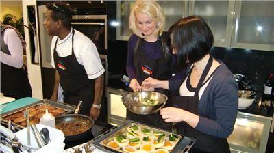 Tagungs-Küchenparty