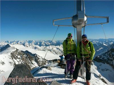 Stubaier Zuckerhütl (3.507m) als Tagesskitour