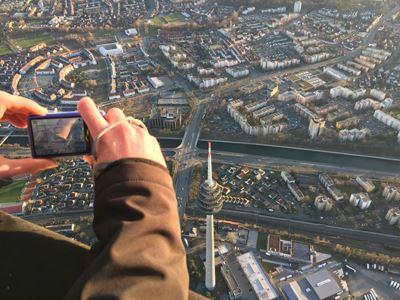 Ballonfahrt über die Stadt Nürnberg